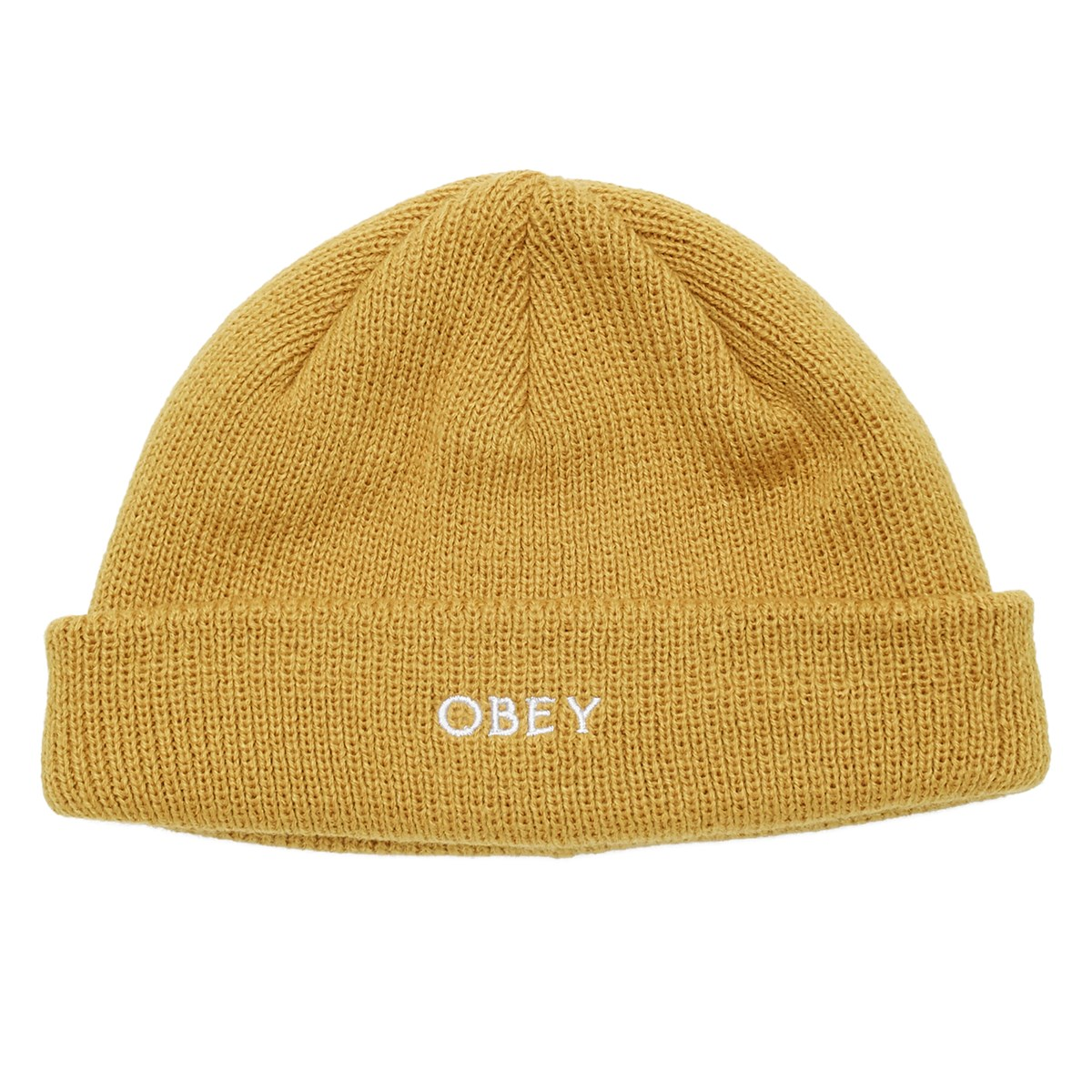 Rollup Beanie in Yellow