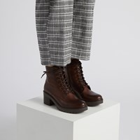 Women's Yasmine Ankle Boots in Dark Brown