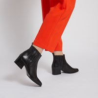 Women's Cataleya Slip On Ankle Boots in Black