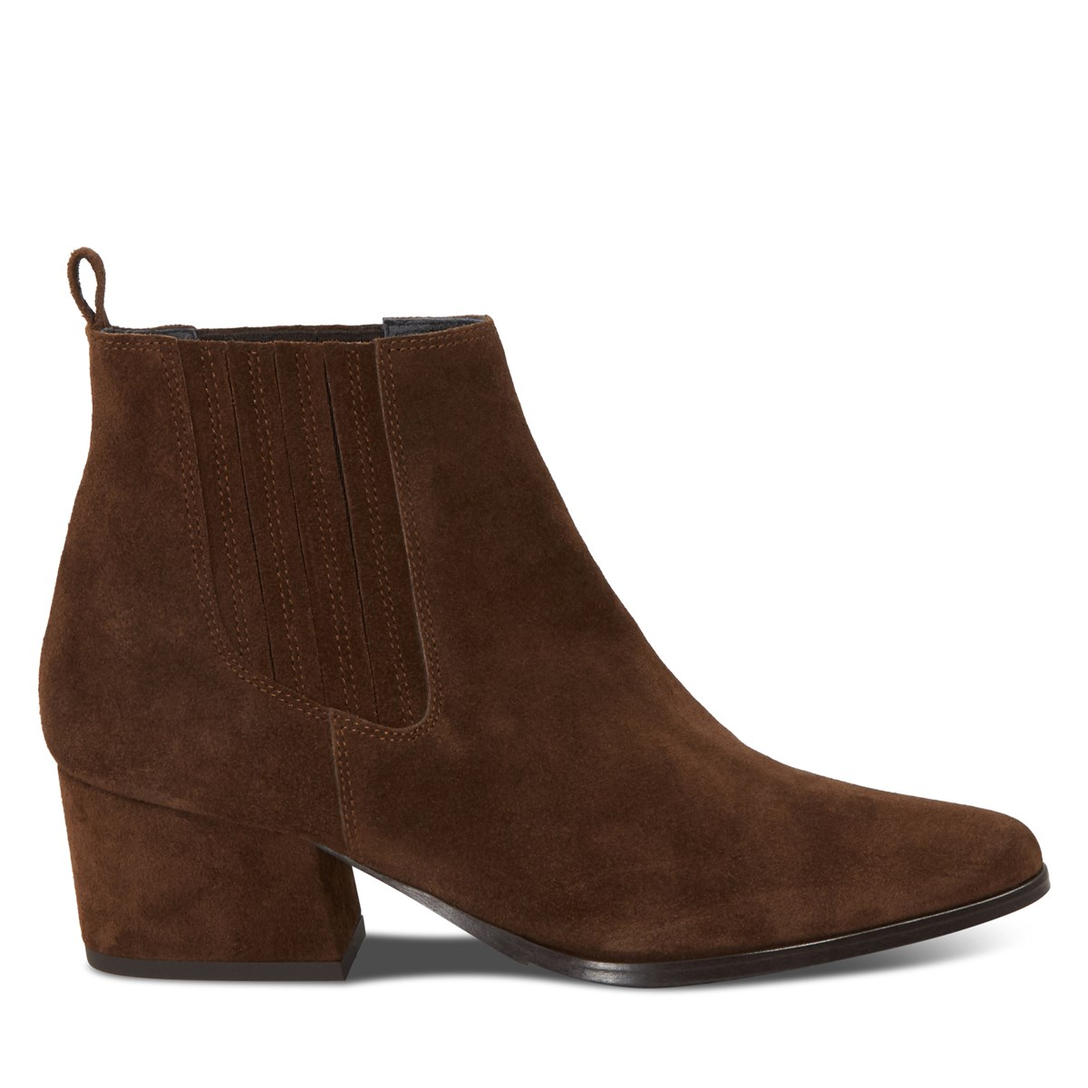 Women's Cataleya Slip On Ankle Boots in Brown Suede