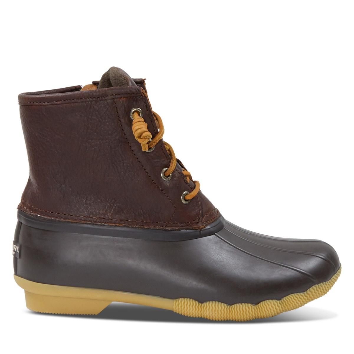 Women's Saltwater Duck Boots in Brown