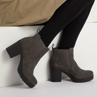 Women's Bianca Slip-On Boots in Grey Suede