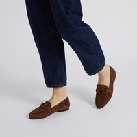 Women's Sabrina Loafers in Brown Suede