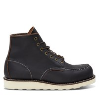 Men's 6 Inch Classic Moc Boots in Black