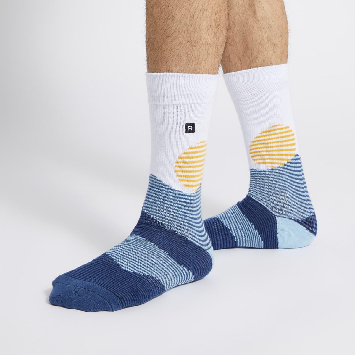 Men's Oakley Crew Socks in Blue