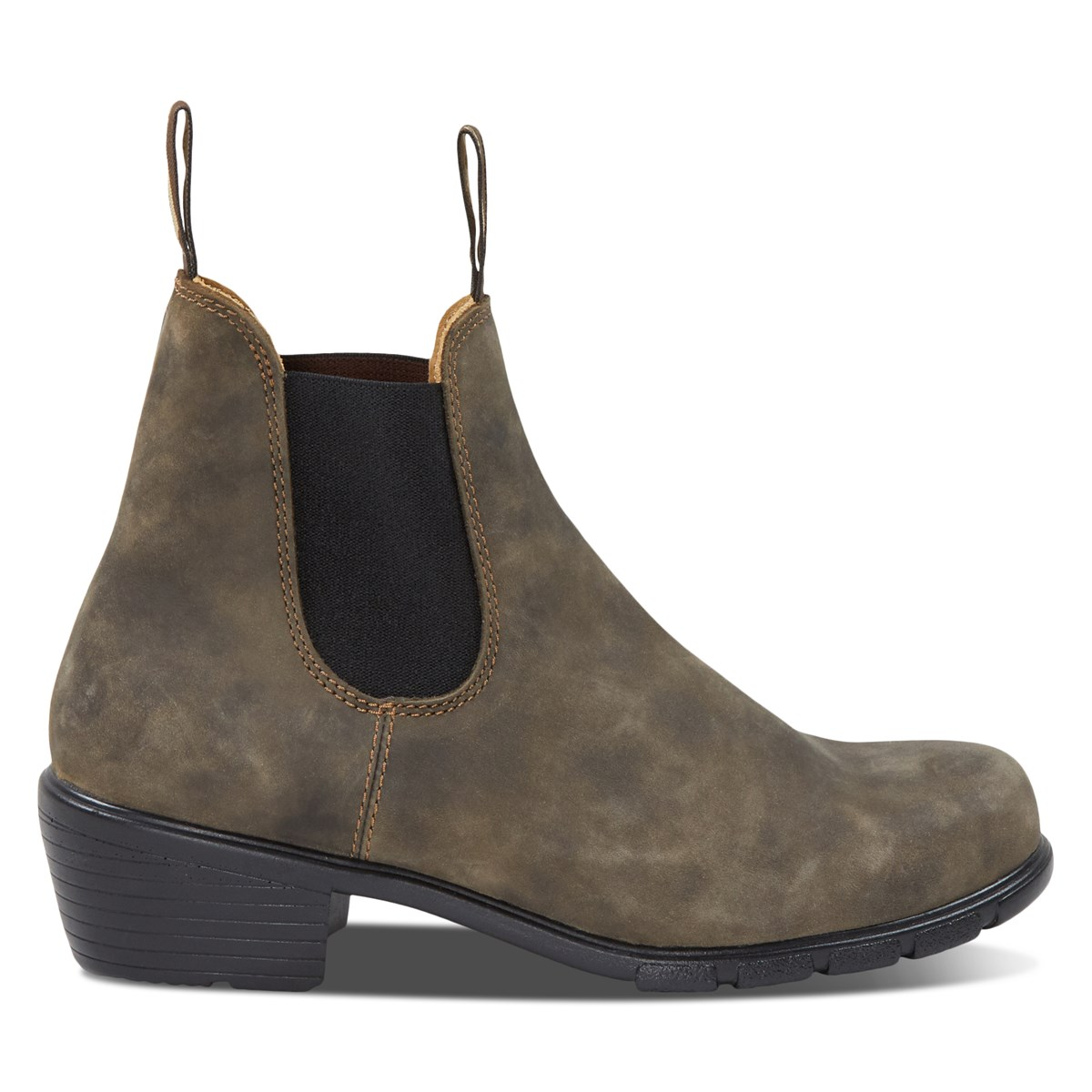 Women's 1677 Heeled Chelsea Boots in Rustic Brown
