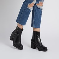 Women's Grace Heeled Boots in Black