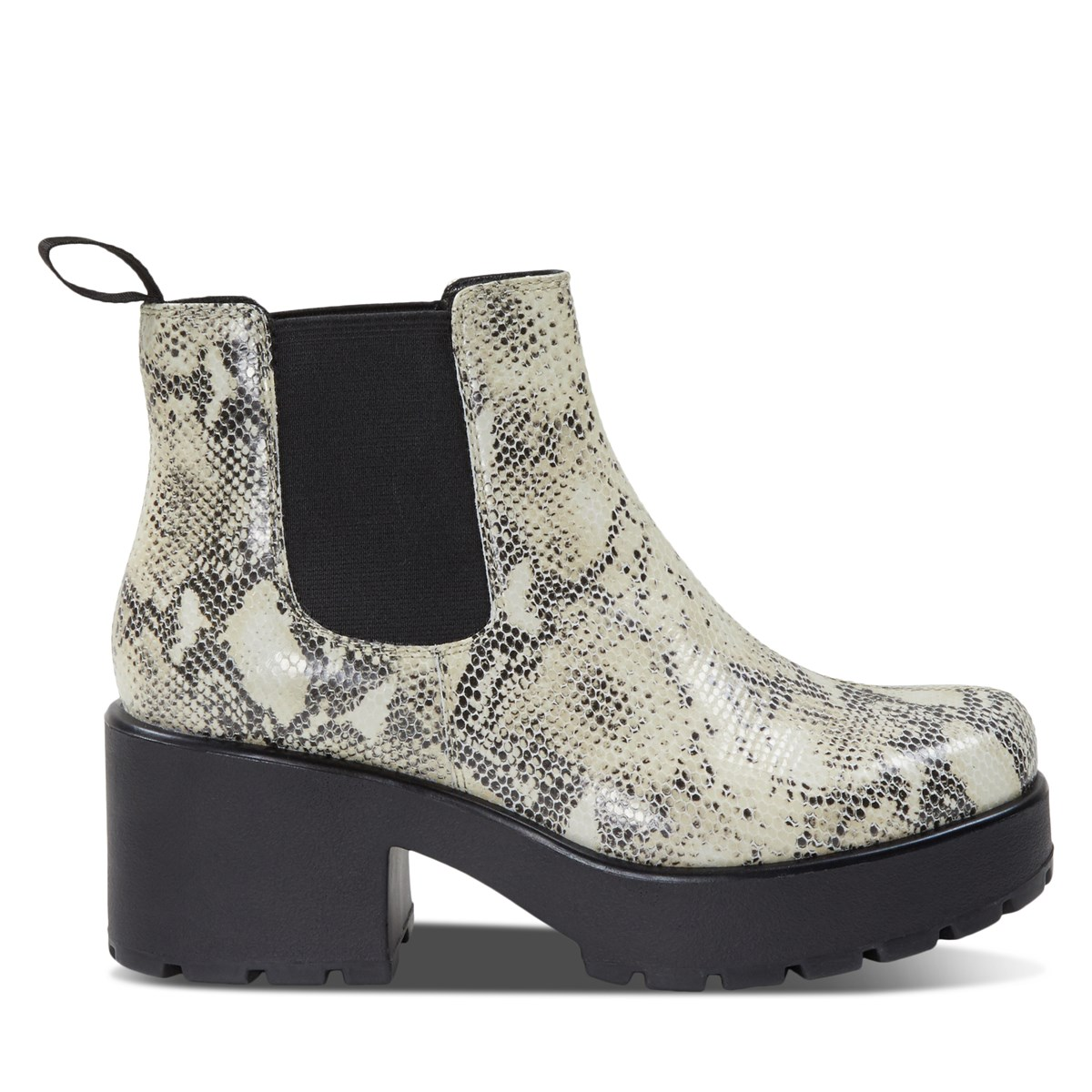 Women's Dioon Chelsea Heeled Boots in Snake Sand