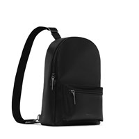 Voassm Small Vegan Sling Bag in Black