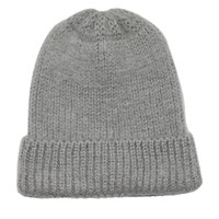Women's Evie Beanie in Light Grey