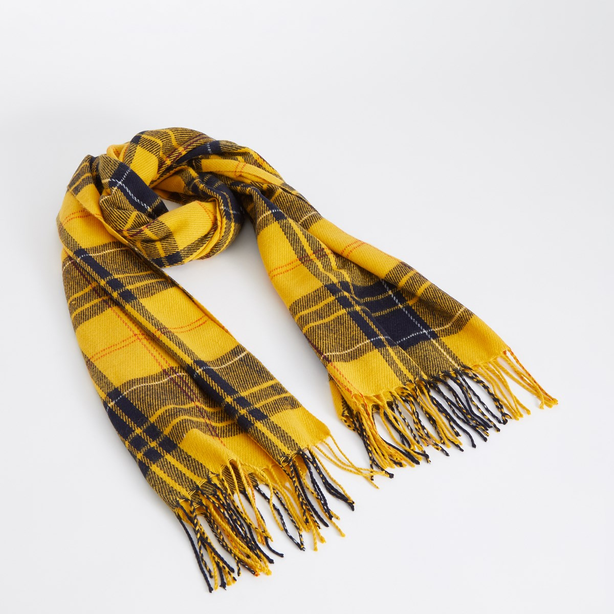 Women's Cher Scarf in Yellow Plaid