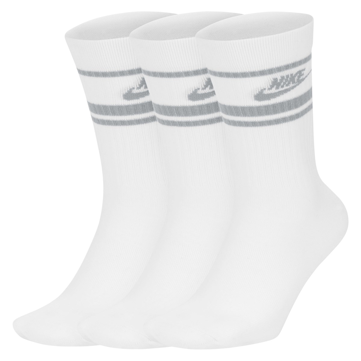 NWS Essential Crew Socks in White