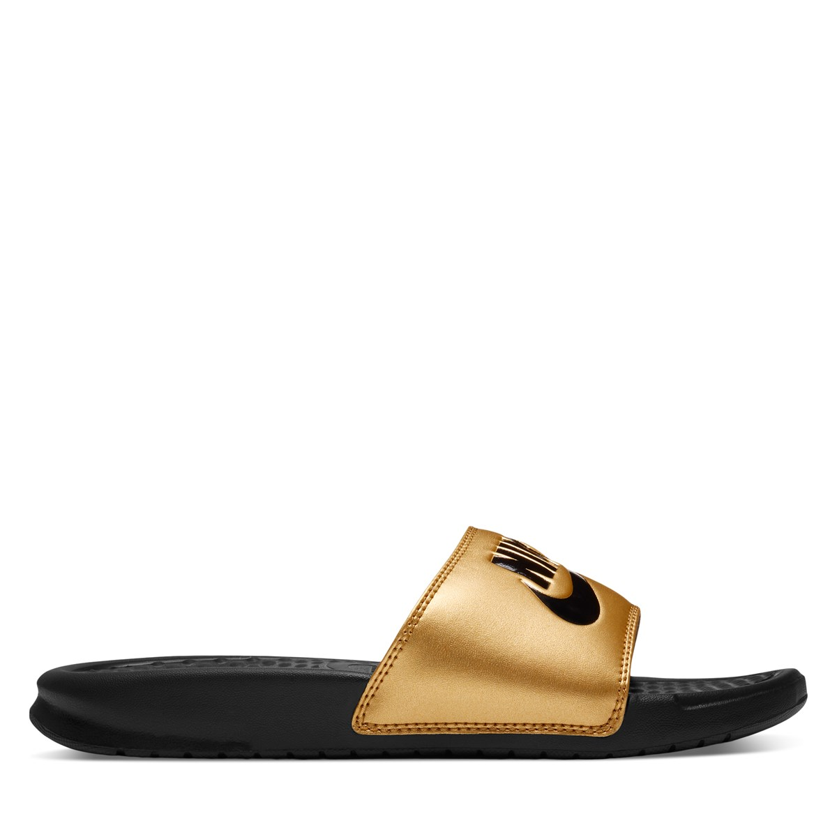 Women's Benassi JDI Slides in Gold