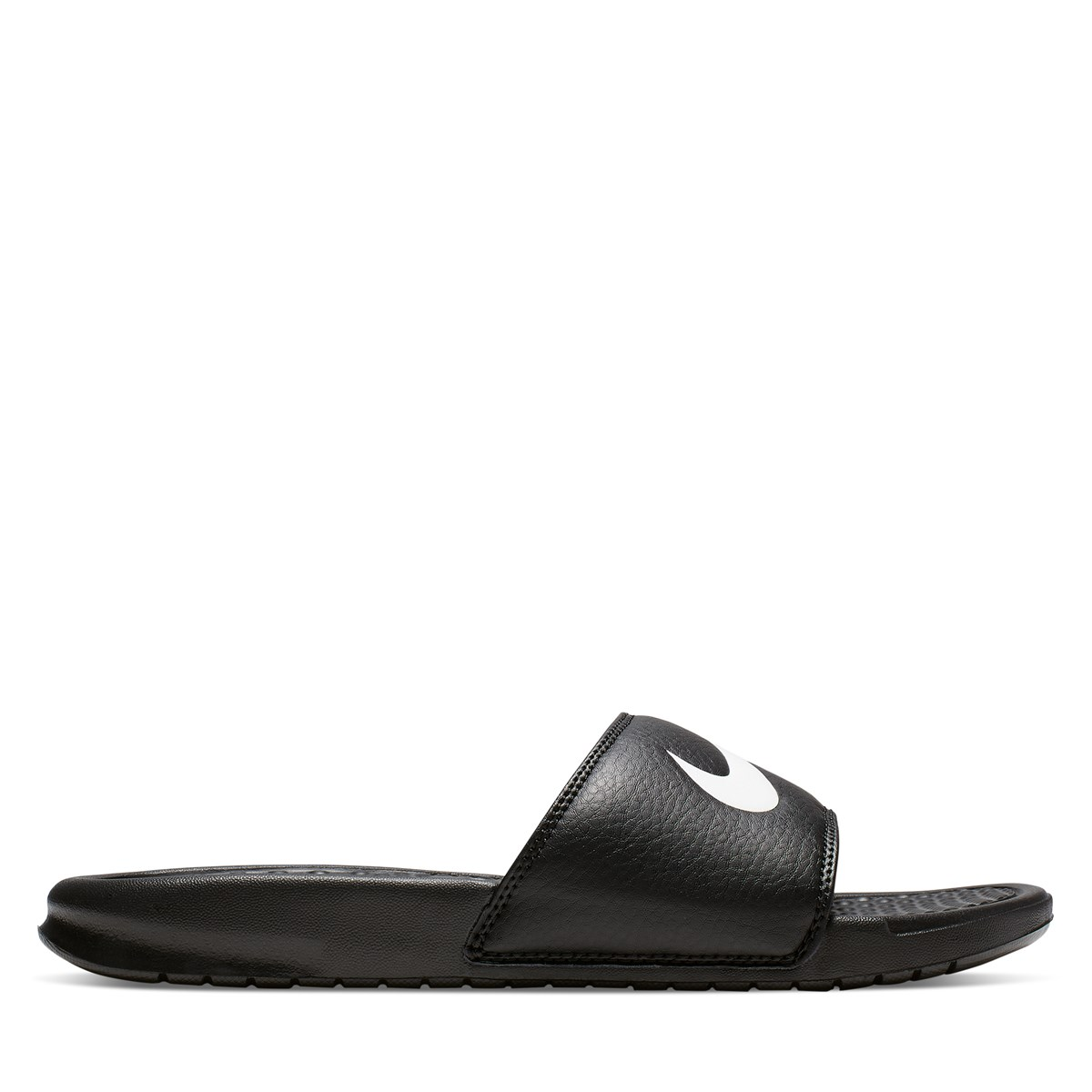 Women's Benassi Swoosh Slides in Black
