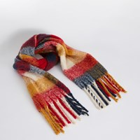 Roen Scarf in Red Plaid