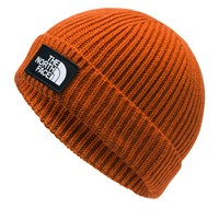 Logo Box Cuffed Beanie in Orange