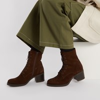 Women's Pippa Ankle Boots in Suede Brown
