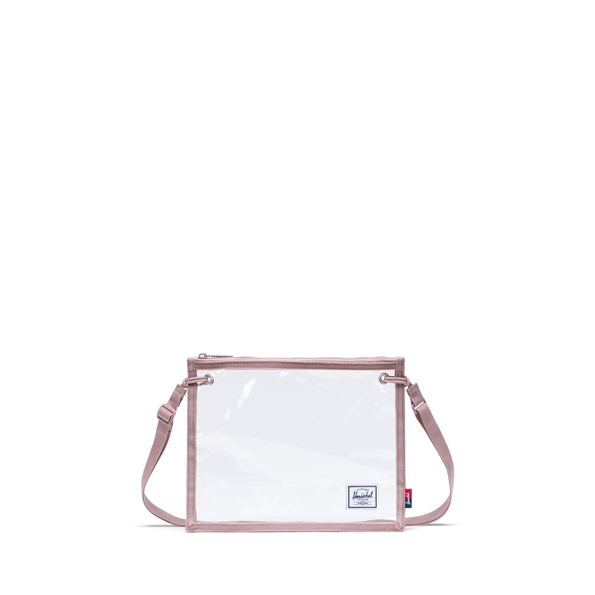 Alder Clear Crossbody Bag in Rose