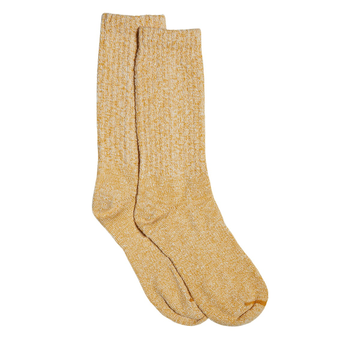 Cotton Ragg Crew Socks in Yellow