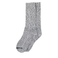 Cotton Ragg Crew Socks in Grey