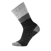 Women's Popcorn Cable Socks in Grey