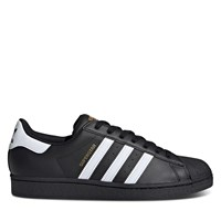Men's Superstar Sneakers in Black/White