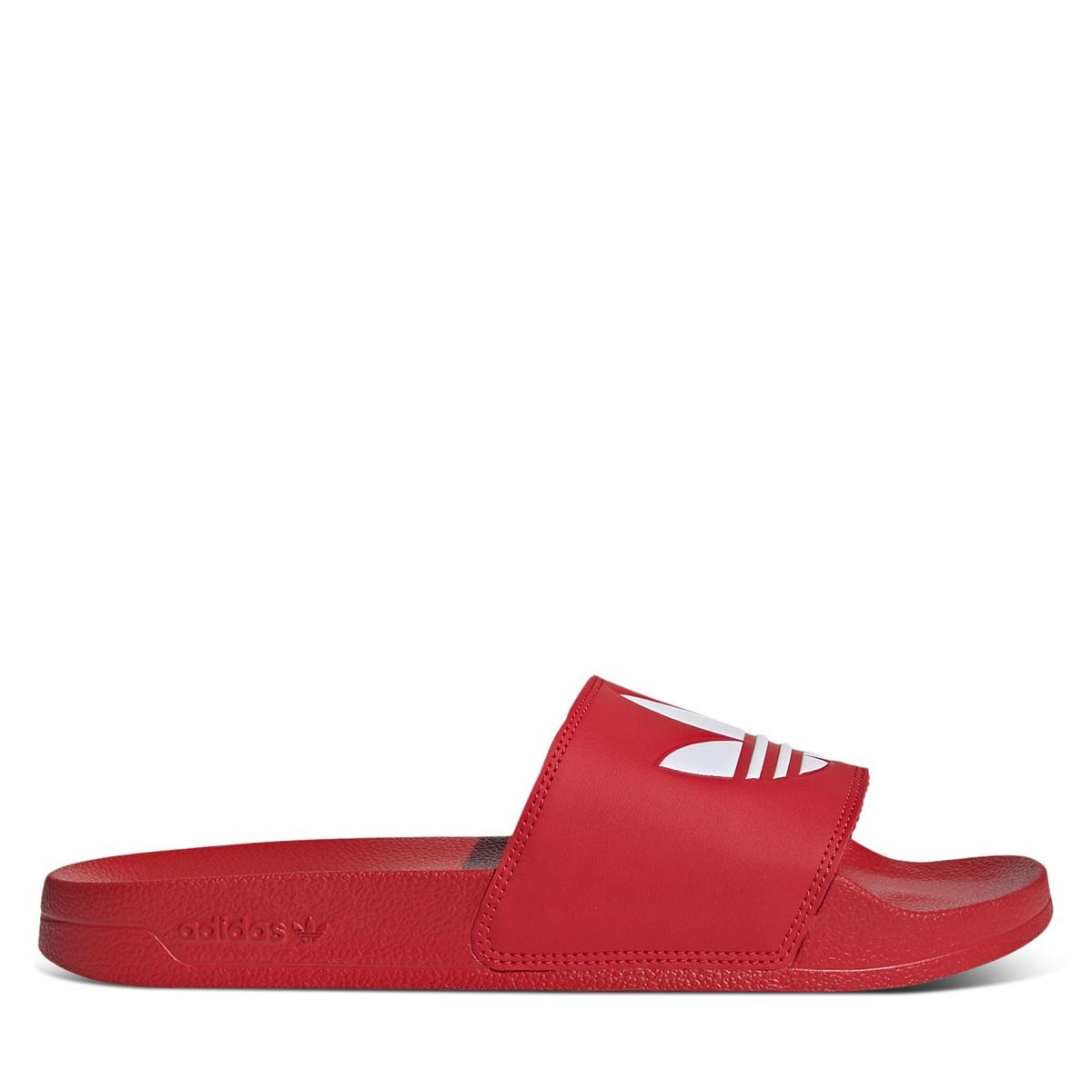Men's Adilette Lite Slide Sandals in Red