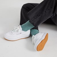 Women's Club C Double Sneakers in White/Gum
