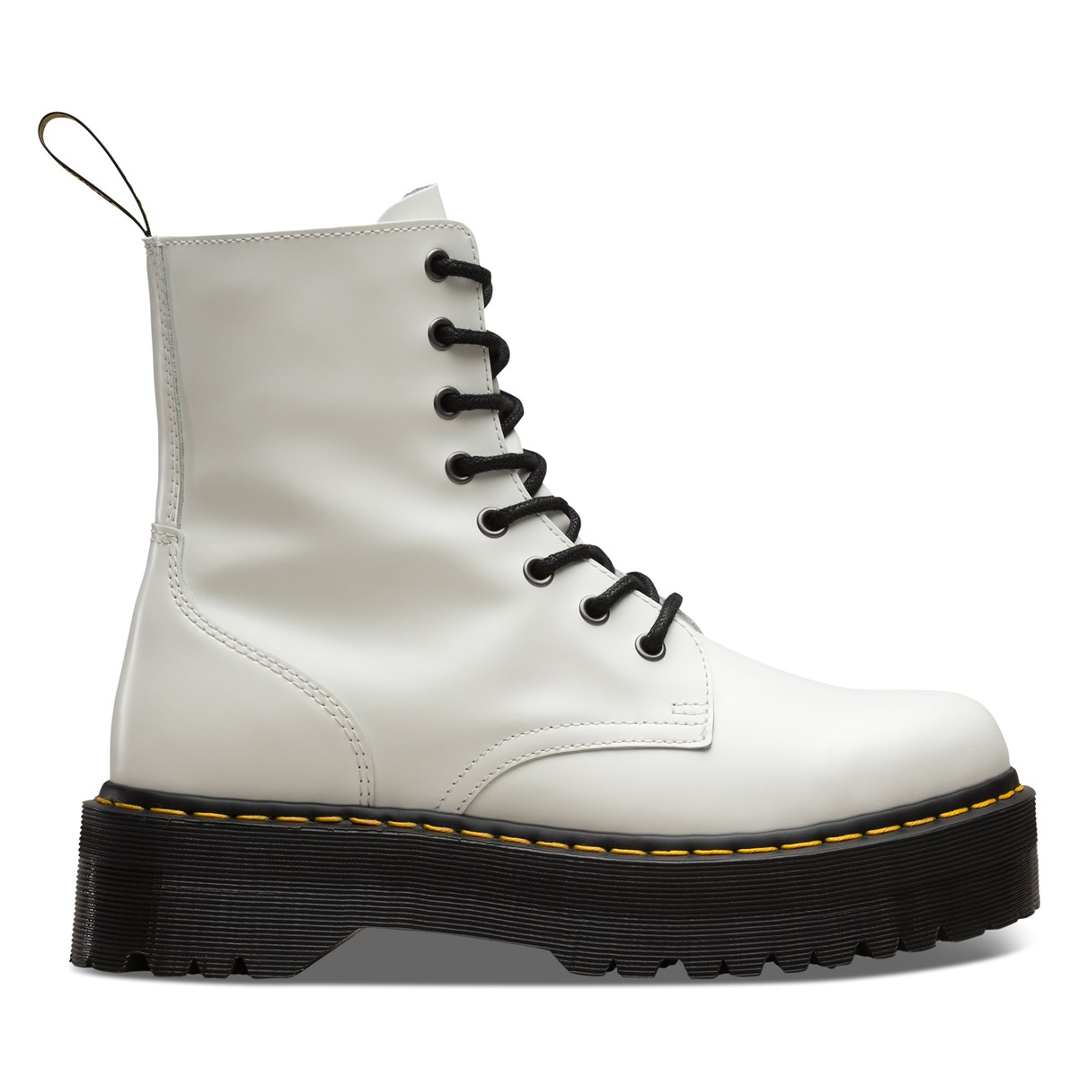 Women's Jadon Polished Smooth Boots in White