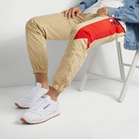Men's Classic Leather Sneakers in White