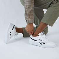 Men's Club C Revenge Sneakers in White/Black