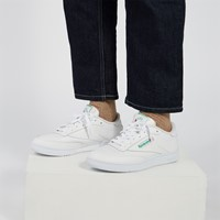 Men's Club C 85 Sneakers in White/Green