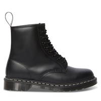 Men's 1460 White Stitch Smooth Boots in Black