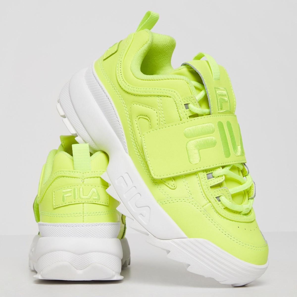 Women's Disruptor 2 Applique Sneakers in Neon Yellow