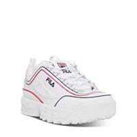 Men's Disruptor 2 Contrast Piping Sneakers in White