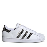 Women's Snakeskin Superstar Sneakers in White