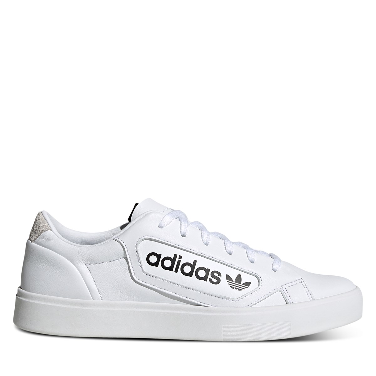 Women's Branded Sleek Sneakers in White