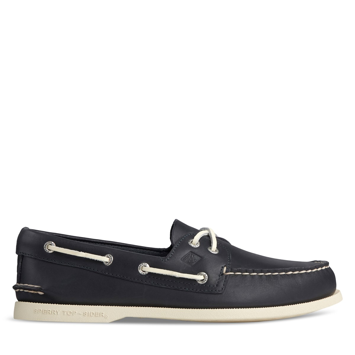 Men's 2 Eye Boat Shoes in Navy Blue