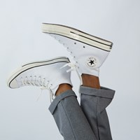 Men's Chuck 70 Hi Sneakers in White Leather