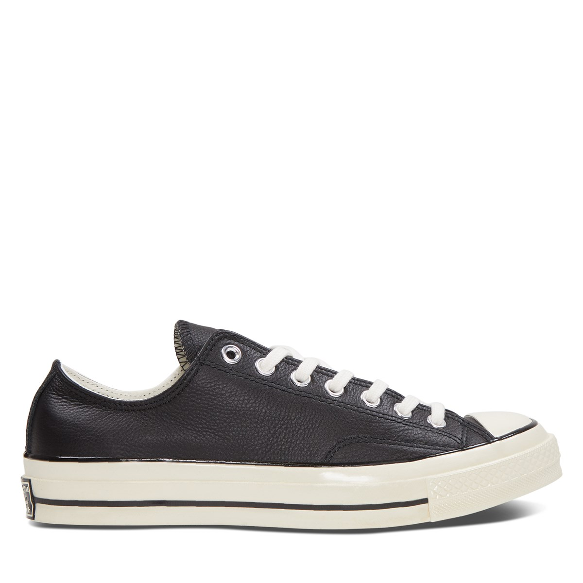 Men's Chuck 70 Low Top Sneakers in Black Leather