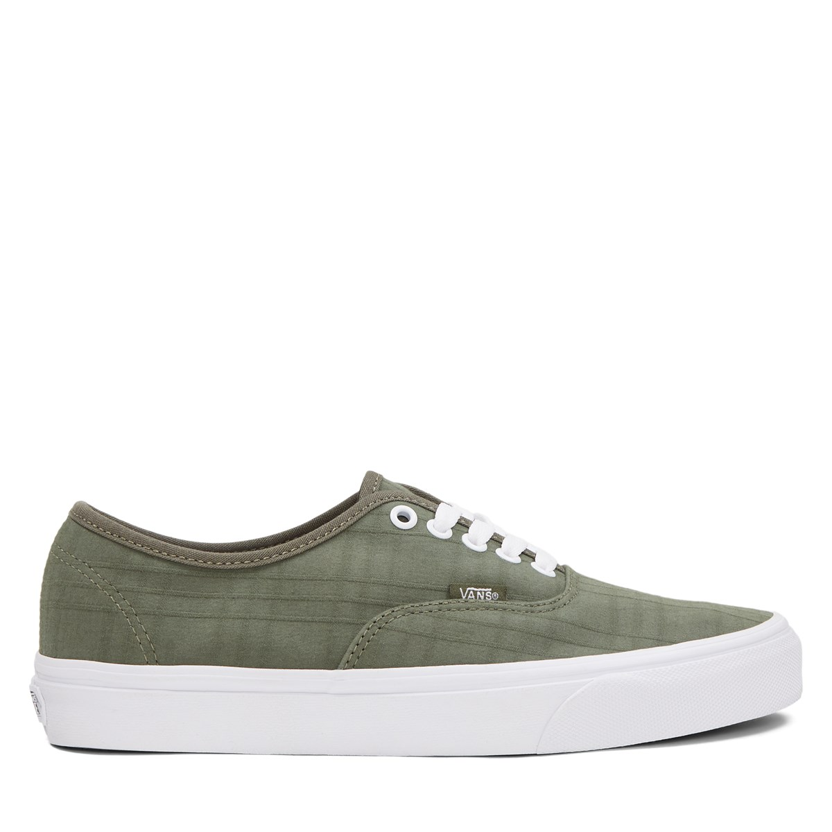 Men's Authentic Sneakers in Green Plaid