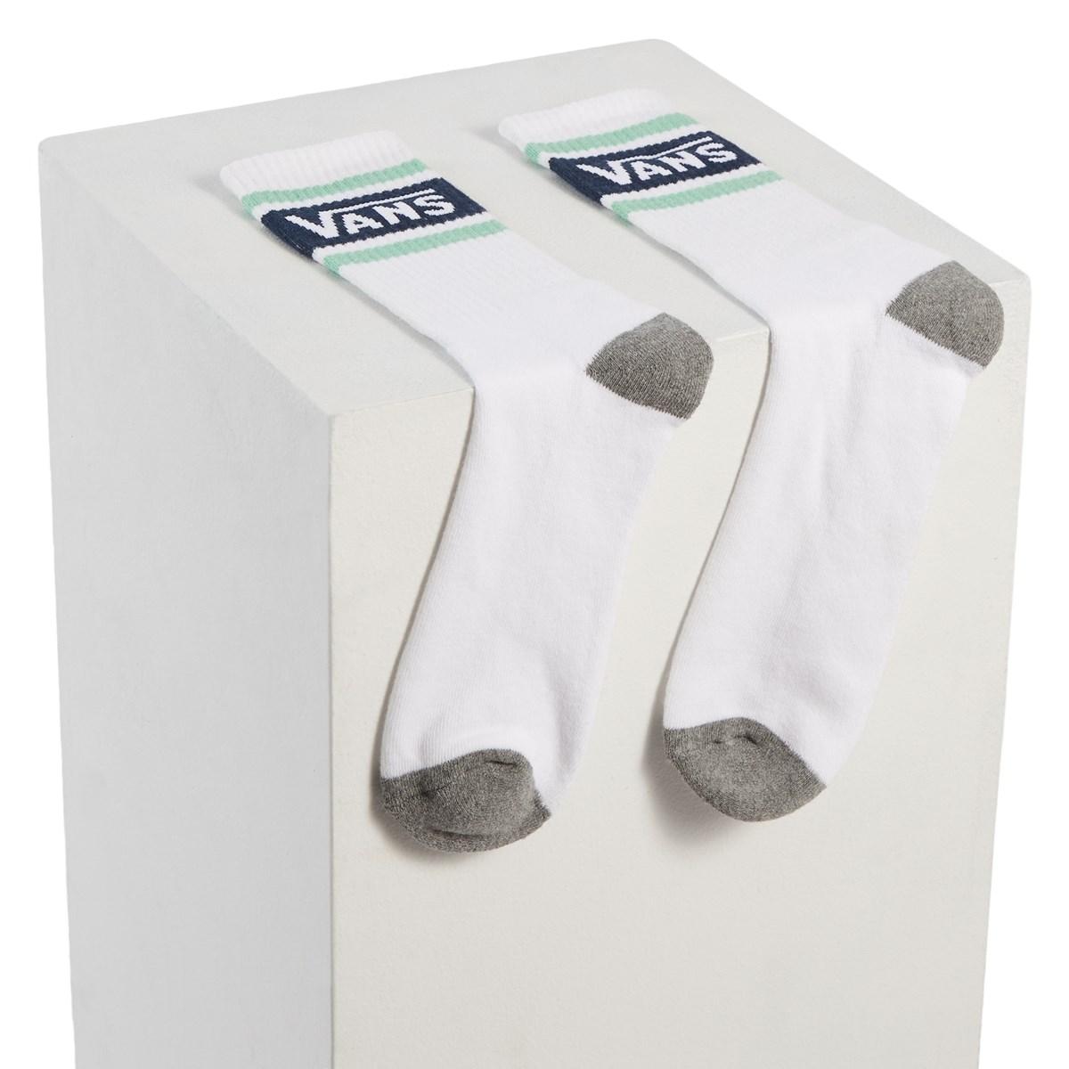 Men's Tribe Crew Socks in White