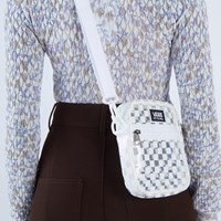 Street Ready Checkerboard Crossbody Bag in Clear