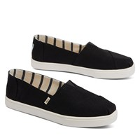 Women's Alpargata Cupsole Slip-Ons in Black/White