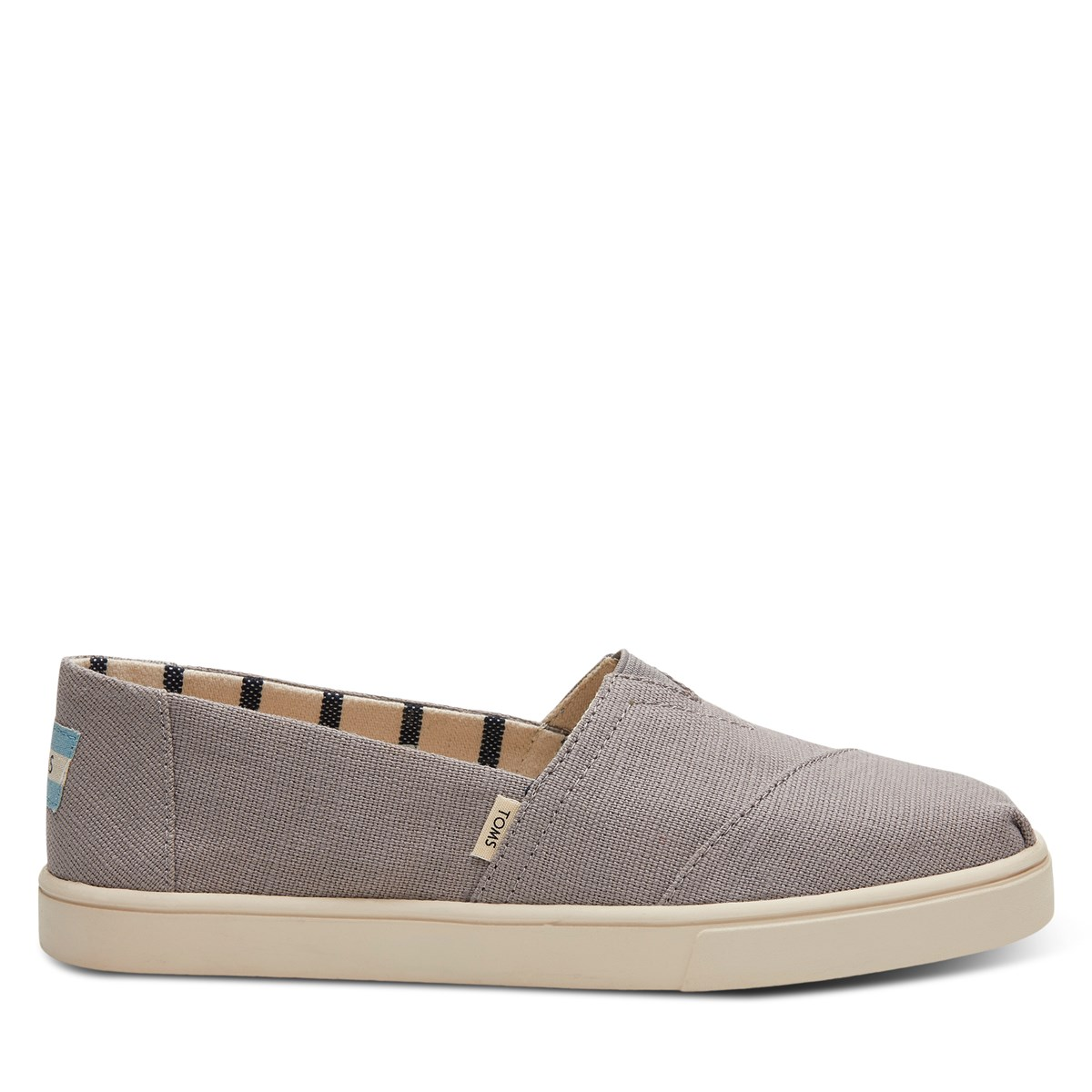 Women's Alpargata Slip-Ons in Grey