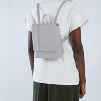 Deely Mini Backpack in Pearl