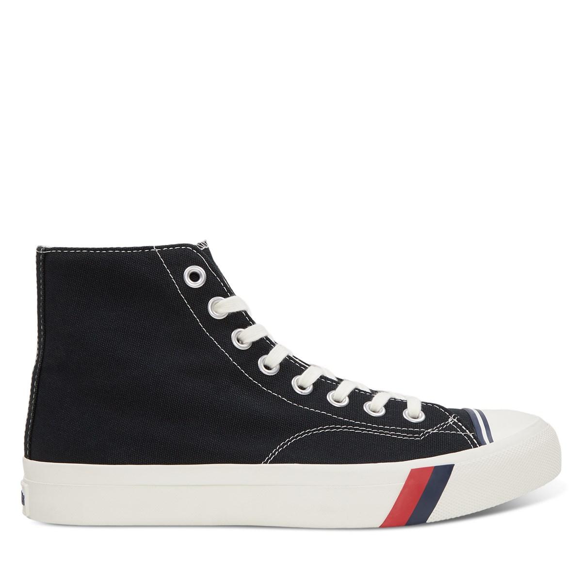 Men's Royal Hi Sneakers in Black