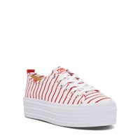 Women's Triple Up Flatforms in Red Stripes