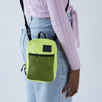 Large Sinclair Crossbody Bag in Highlighter Yellow
