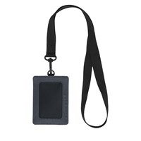 Charlie RFID Lanyard Card Case in Black